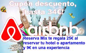 cupón airbnb 34€ de descuento