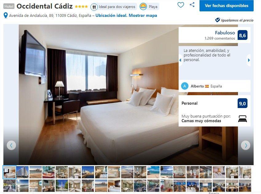🏫Hotel Occidental cadiz 🏫 Reserva tu habitación al mejor precio