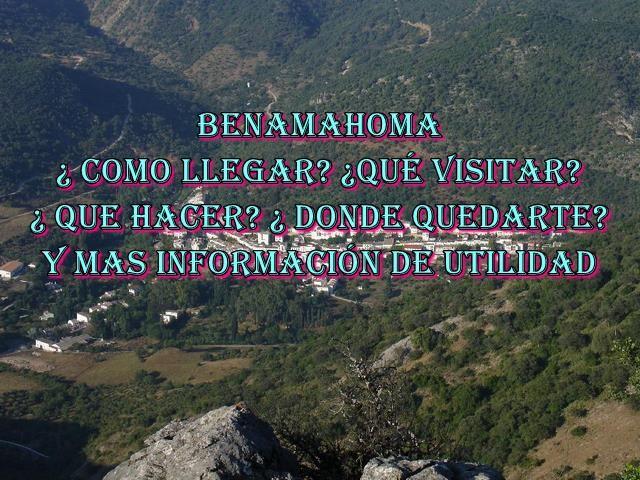 ▷✔️ Benamahoma , Conozca  todo de este pueblo de ´la provincia de cádiz