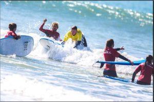 Aventura de 4 horas en bicicleta y surf en cádiz